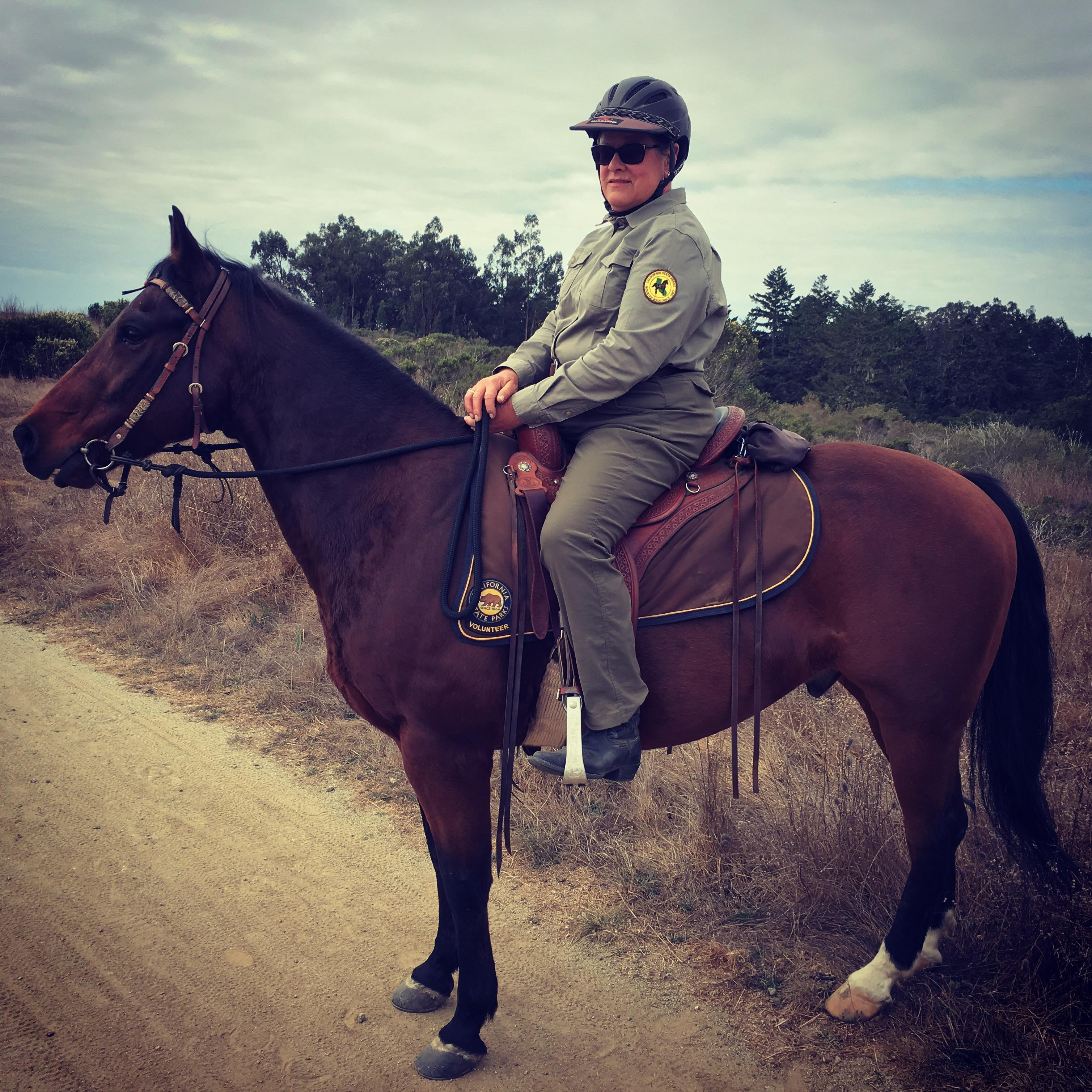 Park ranger riding a horse at Wilder Ranch State Park